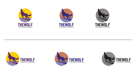 Wolves Icon Design Template