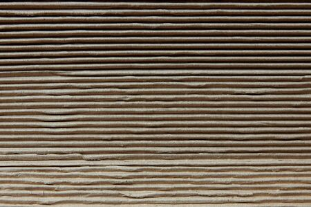Corrugated Paper Texture Background. Closeup shot and selective focus Imagens - 149980726