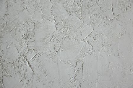 Cement Texture. White Colour. Concrete Background. Empty Plastered Wall Surface