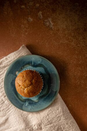 Banana Muffin Cup Cake on the Table. Top View