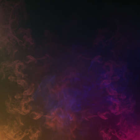 Colorful Smoke in the Dark. Abstract Background