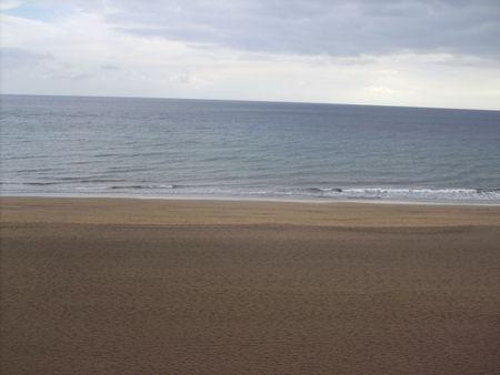 again the sea in a beautiful calm. Stock Photo