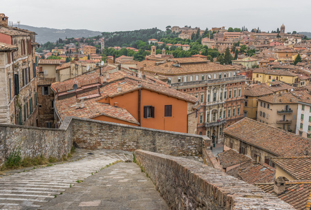 Perugia, Italy - one of the most interesting cities in Umbria, Perugia is famous for the medieval Old Town and its narrow alleys