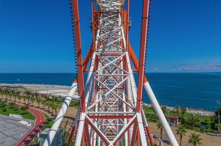 Batumi is a seaside city considered the georgian Las Vegas, but its famous also for modern architecture. Here in particular the skyline seen from the wheel