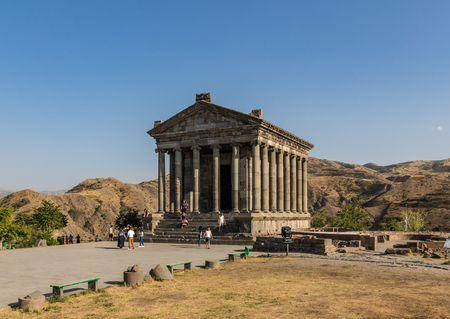 The Garni Temple, built on the brink of Garni Gorge, is the only standing Greco-Roman colonnaded building in Armenia and the former Soviet Union, and a Unesco World Heritage site