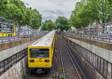 Berlin, Germany - connecting every corner of the city, Berlin Metro is one of the most developed in Europe. Here in particular its characteristic yellow wagons
