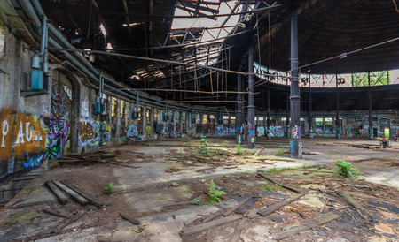 Berlin, Germany - one of the main attractions of Berlin are the abandoned buildings. Here in particular the Güterbahnhof Pankow, an abandoned goods station