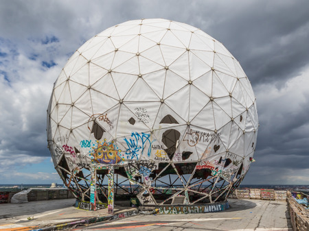 Berlin, Germany - famous during the Cold War for being a U.S. listening station, the Teufelsberg is today a street artists paradise