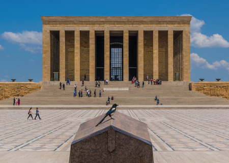 Ankara, Turkey - even if not the most touristic place in Turkey, still Ankara offers some great spots. Here in particular the Famous Anitkabir, the mausoleum of Mustafa Kemal Atatürk Editorial