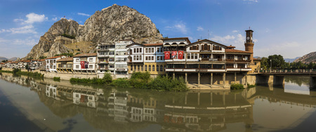 Amasya, Turkey - Amasya is known the typical Ottoman buildings. Here in particular a glimpse of its wonderful Old Town