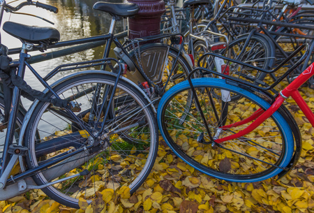 Amsterdam, Netherlands - main city and capital of the country, Amsterdam is one of the most quiet and non polluted capital in Europe, thanks for the massive use of bicycle by the locals Banco de Imagens - 124910554