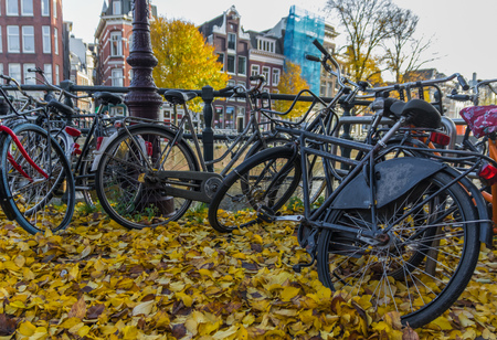 Amsterdam, Netherlands - main city and capital of the country, Amsterdam is one of the most quiet and non polluted capital in Europe, thanks for the massive use of bicycle by the locals Banco de Imagens - 124910555