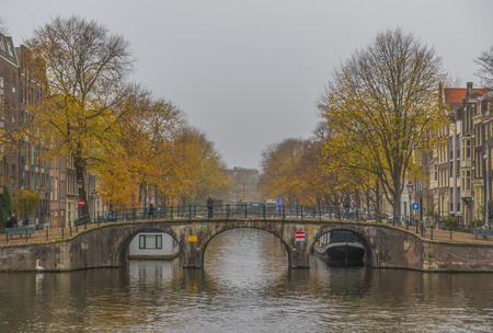 Amsterdam, Netherlands - main city and capital of the country, Amsterdam offers a splendid display of history and modernity. Here in the picture the Old Town and its famous canals