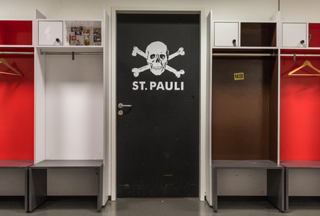 Hamburg, Germany - with its supporters strongly identified with their support of left wing politics, FC St. Pauli is one of the most popular football clubs in Germany, even if it did enjoy only modest success on the field
