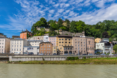 Salzburg, Austria -  fourth-largest city of the country, birthplace of Wolfgang Amadeus Mozart, Salzburg is a UNESCO World Heritage Site due to its wonderful baroque architecture Imagens
