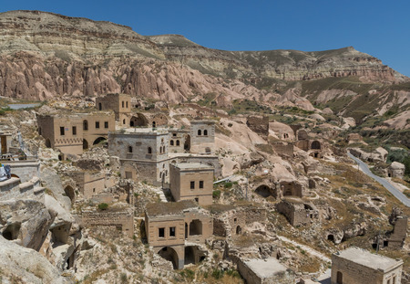 Çavusin, Turkey - A Unesco World Heritage site, Cappadocia is famous for its fairy chimneys, churches and castles carved in the rock, and a unique heritage