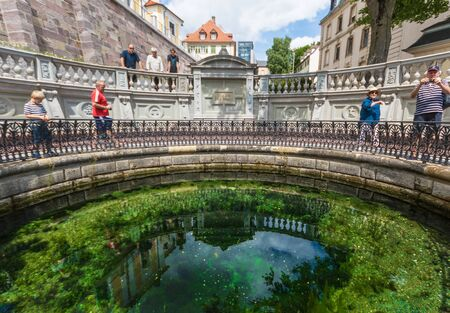 Donaueschingen, Germany - located in the Black Forest, Donaueschingen is considered the source of the river Danube, which is supposed to start in the Donauquelle fountain Editorial