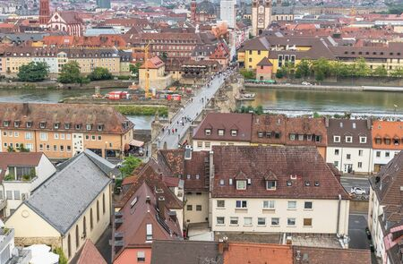 Wurzburg, Germany - located on the Main river and popular tourist destination, Wurzburg is a wonderful city which displays a Unesco World Heritage Old Town Banco de Imagens