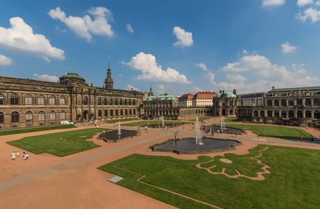 Dresden, Germany - one of the most heavily bombed cities during World War Two, Dresden has be completely rebuilt after 1945, and its Old Town is now a Unesco World Heritage site. Here in particular the Zwinger Palace