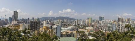 Macau, China - Portuguese colony until 1999, Unesco World Heritage site, Macau has many landmarks from the colonial period, and an impressive contemporary architecture. Here it's wonderful skyline