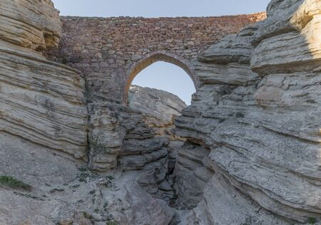 Konya, Turkey - just outside the city of Konya, the small village of Sille Subasi offers a nice display of Ottoman heritage, like the stone bridge in the picture Banco de Imagens