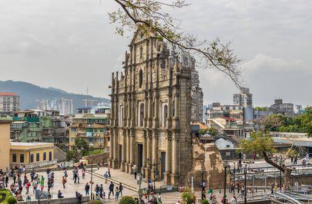 Macao, China - Colonia portuguesa hasta 1999, y un sitio del Patrimonio Mundial de la Unesco, Macao tiene muchos hitos del período colonial, como las maravillosas ruinas de San Pablo. Editorial
