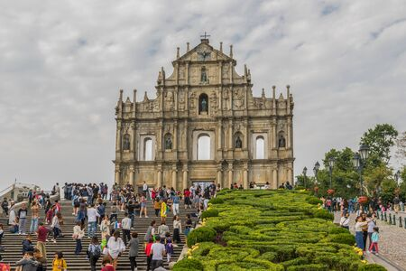 Macau, China - Portuguese colony until 1999, and a Unesco World Heritage site, Macau has many landmarks from the colonial period, like the wonderful St. Paul's ruins Editorial