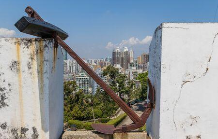 Macao, China - Colonia portuguesa hasta 1999, un sitio del Patrimonio Mundial de la Unesco, Macao muestra muchos lugares maravillosos del período colonial, como la Fortaleza de Guia aquí en la imagen Foto de archivo