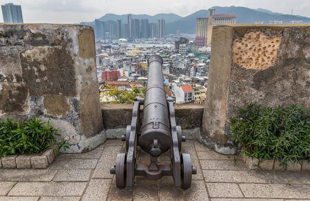 Macau, China - portugiesische Kolonie bis 1999, ein UNESCO-Weltkulturerbe, Macau zeigt viele wundervolle Sehenswürdigkeiten aus der Kolonialzeit, wie die Festung hier im Bild Standard-Bild