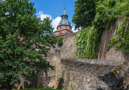 Aschaffenburg, Germany - on the left bank of the Main river, the Johannisburg castle is a fine example of German Reinassance and one of the most beautiful castles of the country