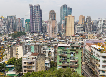 Macau, China - Portuguese colony until 1999, Macau is one of the most overpopulated territories in the world. Here in particular its residential architecture