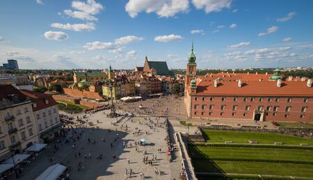 Warsaw, Poland - capital and largest city of Poland, Warsaw displays a colorful Old Town, a Unesco World Heritage due to its wonderful Gothic and Baroque architecture