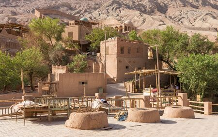 Turpan, China - located along the Tuyugou Valley, and part of the Turpan Depression area, the Tuyuq Village is one of the best preserved Uyghur villages of the Xinjiang Autonomous Region