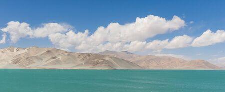 Tashkurgan, China - located 3,500m above the sea level, along the road between Kashgar and Tashkurgan, the Baisha Lake offers some amazing sights and colors