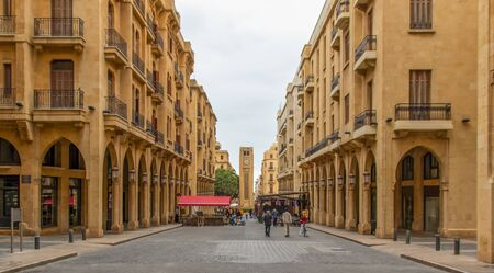 Beirut, Lebanon - largest city and capital of Lebanon, Beirut presents a wonderful Old Town which merges both historical buildings and new palaces 版權商用圖片