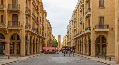 Beyrouth, Liban - plus grande ville et capitale du Liban, Beyrouth présente une magnifique vieille ville qui fusionne à la fois des bâtiments historiques et de nouveaux palais Banque d'images
