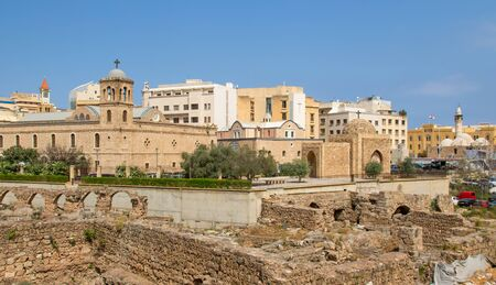 Beirut, Lebanon - seat of the Greek Orthodox Archdiocese of Beirut, the Saint George Cathedral is one of the main religious buildings of a city that embraces Catholic, Orthodox and Muslim heritage