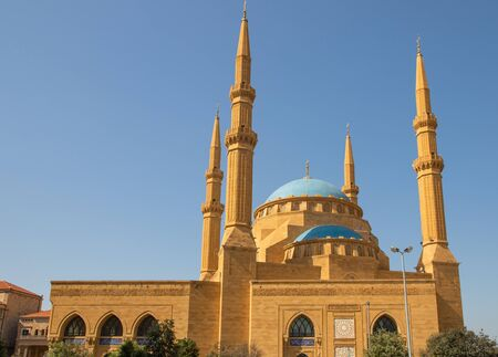 Beirut, Lebanon - built on an old preyer corner, the Mohammad Al-Amin Mosque is the biggest mosque in Lebanon, and one the main landmarks in Beirut
