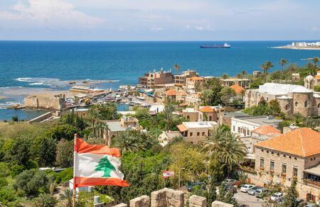 Byblos, Lebanon - one of the oldest continuously inhabited cities in the world, the Old Town of Byblos is one of the most important historical sites in Lebanon 版權商用圖片