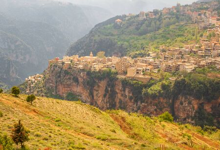 Bsharri, Lebanon - one of the most beautiful villages of Kadisha Valley, Hadchit is part of the and famous for being located on the edge of a deep cliff
