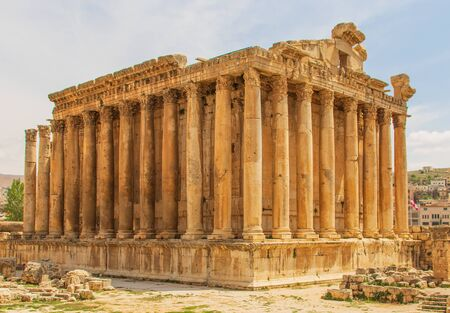 Baalbek, Lebanon - place of two of the largest and grandest Roman temple ruins, particular the Temple of Bacchus Banque d'images