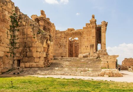 Baalbek, Lebanon - place of two of the largest and grandest Roman temple ruins, Baalbek is a main attractions of Lebanon. Here in particular the Temple of Bacchus