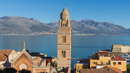 Gaeta, Italy - one of the most spectacular cities along the Tyrrhenian Sea, Gaeta displays an amazing Medieval Old Town, famous of its churches and fortifications Archivio Fotografico