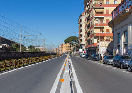 Rome, Italy - following the coronavirus outbreak, the Italian Government has decided for a massive curfew, and cities like Rome look like ghost towns. Here in particular the empty streets of Rome