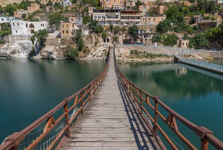 Halfeti, Turkey - most of the village was submerged in the 1990s under the waters behind the dam on the Euphrates. Here in particular the old village nowadays