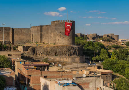 Diyarbakir, Turkey - considered the unofficial capital of theTurkish Kurdistan, Diyarbakir is an amazing city with tastes from different cultures, a wonderful Old Town, and the Unesco World Heritage city walls 에디토리얼