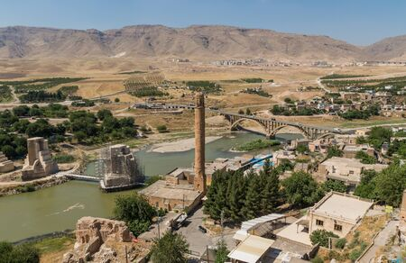 Hasankeyf, Turkey - a splendid ancient town located along the Tigris River, with its archeological sites at risk of being flooded with the completion of the Ilisu Dam