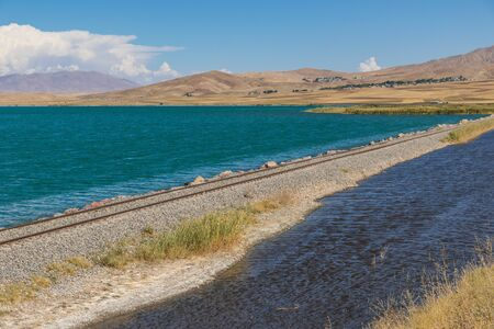 Lake Van, Turkey - on the high plain between Ararat, Iraq and Iran, an amazing display of nature and colors, and railways that seem to lead to nowhere