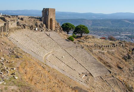 Pergamon, Turkey - one of the best preserved ancient Greek and Roman ruins, and a site, Pergamon presents an amazing display of temples, amphitheaters, columns and sanctuaries