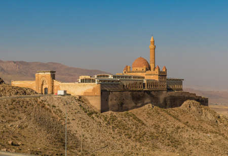 Dogubeyazit, Turkey - the Turkish border with Iran shows turkish, persian and armenian heritage, like the Ishak Pasha Palace, a rare example of historical Turkish palace Editöryel